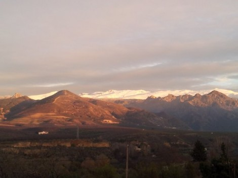 Sierra Nevada vista desde Casa Rural