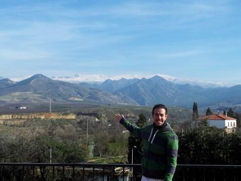Vistas de Sierra Nevada desde el alquiler de chalet en Granada