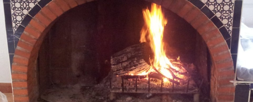 Hacer chimenea de obra en esquina excellent chimenea - Chimenea en esquina ...