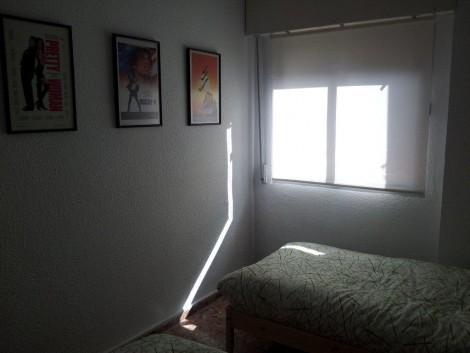 habitación doble en casa rural con dos camas individuales