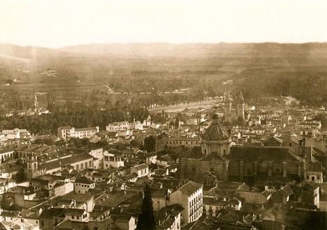 Granada y catedral a principios del siglo XX